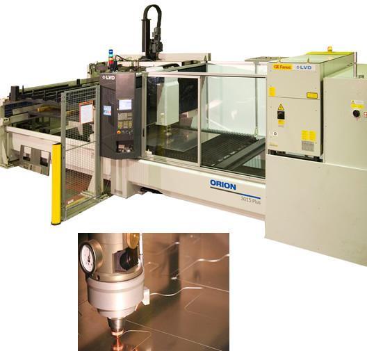 Sheet metal fabrication, CNC laser cutter