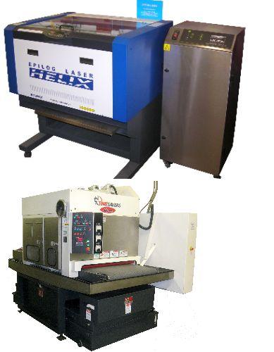 CO2 Laser Engraver - Silk Screen Making - Timesaver Grainer.