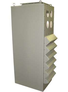 Drip Proof Chimney Air Exhaust through the Cabinet Top combined with Rear Air Exhaust with Discharge Fans