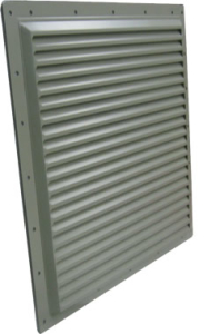 extruded, machined louver