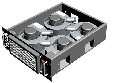 Blower drawer - Configuration 1