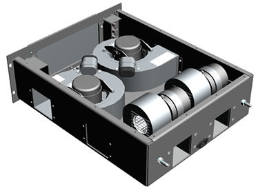 Blower drawer - Configuration 2