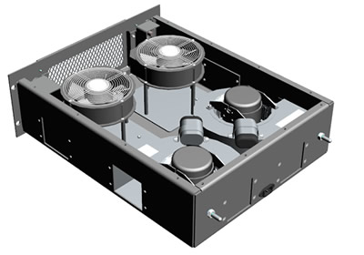 Blower drawer - Configuration 3