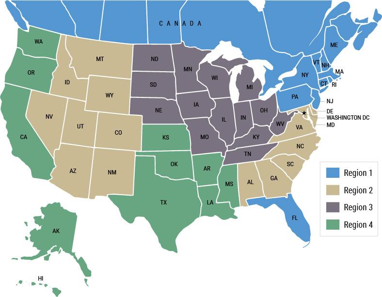 Electromet Sales Regions